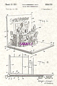 Patent Art: 1950s  Santa Claus POP-UP BOOK - matted (Image1)