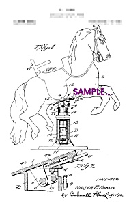 Patent Art: 1920s HORSE Shaped Barber shop CHAIR B -8x10 (Image1)