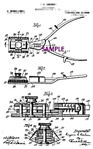 Patent Art: 1920s HAIR CLIPPERS B - 8x10 - matted (Image1)