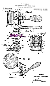 Patent Art: 1920s HAIR CLIPPERS C - 8x10 - matted (Image1)