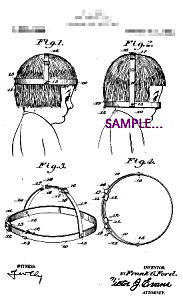 Patent Art: 1920s Hair Trimming Gage Funny - 8x10