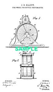 Patent Art: 1880s BICYCLE STUNT APPARATUS (Image1)