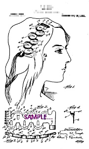Patent Art: 1920s Hair Wave Device - 8x10 - Matted