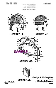 Patent Art: 1920s Bob Haircut Device - 5x7 - Matted