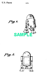Patent Art: 1970s STAR WARS R2D2 Robot - matted (Image1)