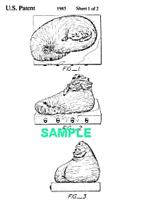 Patent Art: 1980s Star Wars Jabba The Hutt Toy Figure