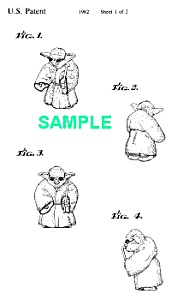 Patent Art: 1980s Star Wars Yoda Toy Figure