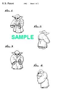 Patent Art: 1980s STAR WARS *Yoda* Toy Figure (Image1)