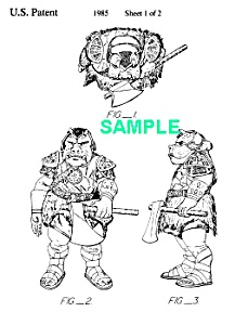 Patent Art: 1980s Star Wars Gamorrean Guard Toy