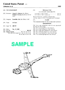 Patent:1980s Star Wars B-wing Starfighter Toy