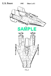 Patent:1980s Star Wars A-wing Starfighter Toy