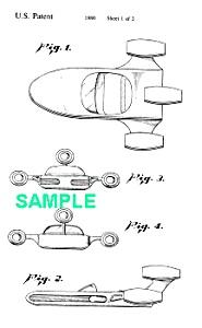 Patent: 1980s STAR WARS X-34 Landspeeder Toy (Image1)