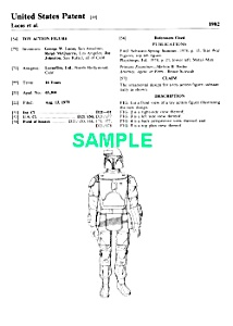 Patent: 1980s Star Wars Boba Fett Toy Figure