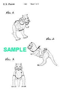 Patent Art: 1980s Star Wars Tauntaun Toy Figure
