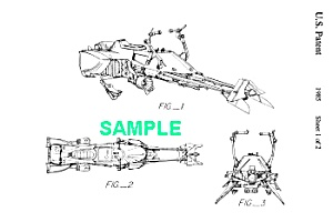 Patent: 1980s STAR WARS Speeder Bike Toy (Image1)