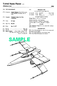 Patent: 1980s STAR WARS X-Wing Fighter Toy (Image1)