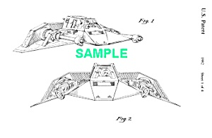 Patent: 1980s Star Wars Snowspeeder Toy