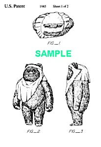 Patent: 1980s STAR WARS Wicket-Ewok Toy (Image1)