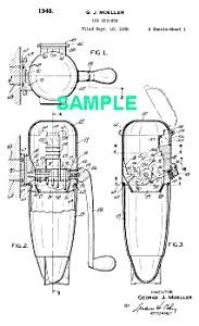 Patent Art: 1940s Art Deco ROCKET ICE CRUSHER (Image1)