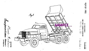 Patent Art: 1940s STUDEBAKER DUMP TRUCK - 8x10 - matted (Image1)