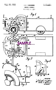 Patent Art: 1930s STUDEBAKER TRUCK - 5x7 - matted (Image1)