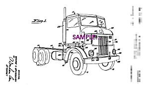 Patent Art: 1950s PETERBILT TRUCK - 5x7 - matted (Image1)
