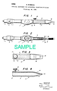 Patent Art: 1950s TATTOOING Tattoo Gun - Machine (Image1)