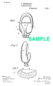 Patent Art: 1890s Early Boxing Glove - Matted