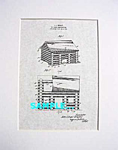 Patent Art: John Lloyd Wright Lincoln Logs Toy-matted