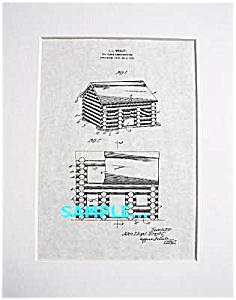 Patent Art: 1920s John Lloyd Wright Lincoln Logs Toy