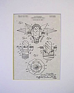 Patent Art: 1930s MATCHLESS STAR Christmas Light-Matted (Image1)