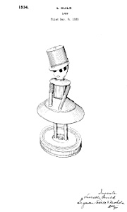 Patent: Art: 1930s Art Deco CHASE Lurelle Guild LAMP A (Image1)