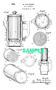 Patent Art: 1930s Art Deco Chase Drip Coffee Pot