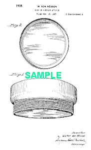 Patent Art: 1930s Art Deco CHASE Von Nessen DISH (Image1)