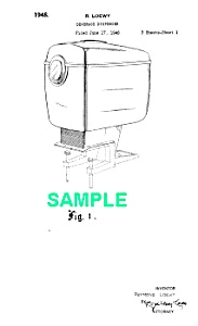Patent Art: 1940s Loewy COCA COLA DISPENSER - matted (Image1)