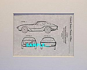 Patent Art: 1957 Raymond Loewy BMW 507 AUTOMOBILE (Image1)