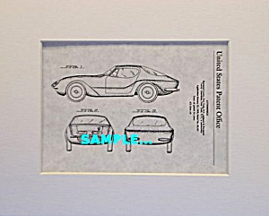 Patent Art: 1957 Raymond Loewy Bmw 507 Automobile