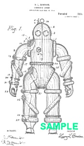 Patent Art: 1910s DIVING SUIT - Matted Print (Image1)