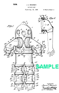 Patent Art: 1930s DIVING SUIT - Matted Print (Image1)