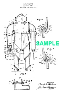 Patent Art: 1920 DIVING SUIT - Matted Print (Image1)