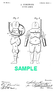 Patent Art: 1890s DIVING SUIT - Matted Print (Image1)