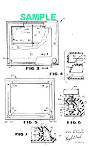 Patent Art: 1970s ETCH-A-SKETCH Toy - Matted Print (Image1)