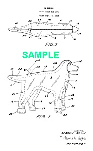 Patent Art: 1964 Dust Cover For Dogs