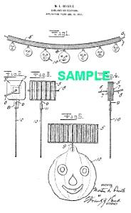 Patent Art: 1910s BEISTLE JackOLantern Halloween-Matted (Image1)