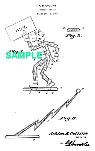 Patent Art: 1940s REDDY KILOWATT Character-  matted (Image1)