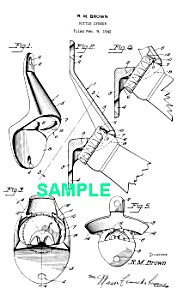 Patent Art: 1940s FAMOUS BOTTLE OPENER - matted (Image1)
