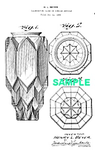 Patent Art: 1930s ART DECO CEILING GLOBE (Image1)