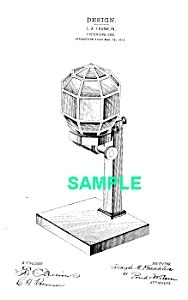 Patent Art: 1910s Glass Nut Dispenser - Matted Print