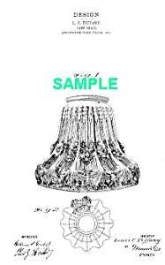 Patent Art: 1910s L C Tiffany Glass Lamp Shade - Matted