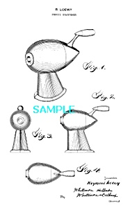 Patent Art: 1930s Raymond Loewy Pencil Sharpener 1